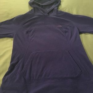 The North Face polartec fleece pullover hoodie, M